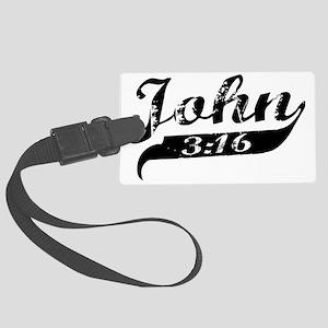 John 3-16 Large Luggage Tag