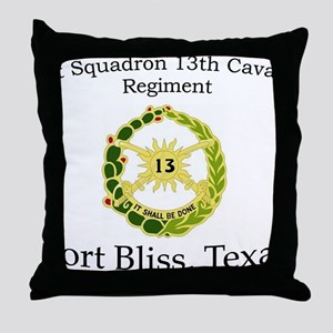 1st Squadron 13th Cav Throw Pillow