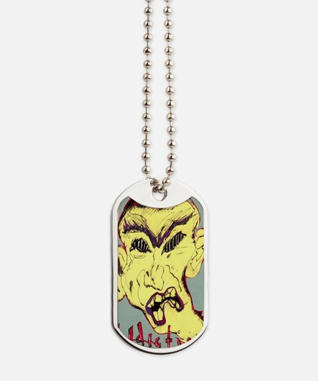 face of addiction poster Dog Tags
