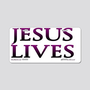Jesus_Lives Aluminum License Plate