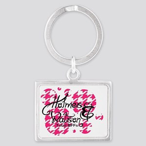 Houndstooth Holmes and Watson l Landscape Keychain
