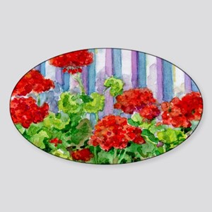 8geranium Sticker (Oval)