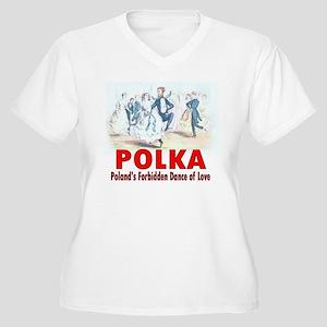 ART Polka 5a Women's Plus Size V-Neck T-Shirt