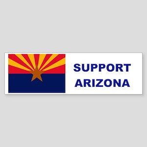 SUPPORT ARIZONA BUMPERSTICKER Sticker (Bumper)
