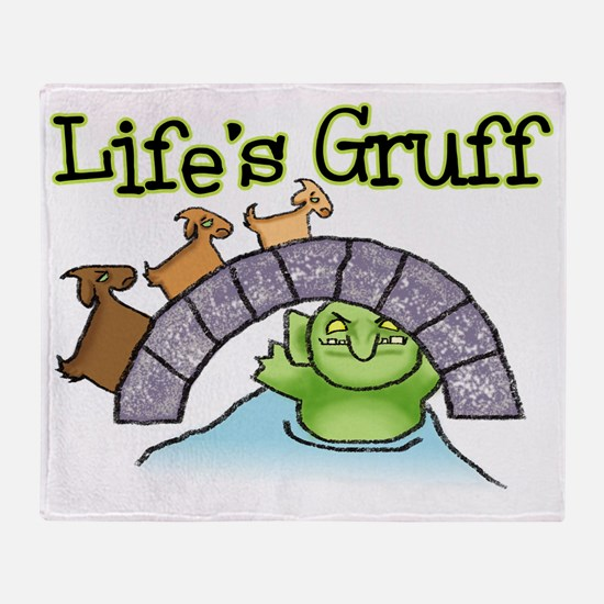 Goats Gruff Throw Blanket