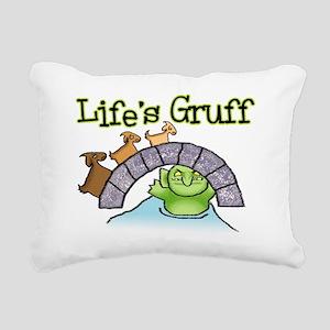Goats Gruff Rectangular Canvas Pillow