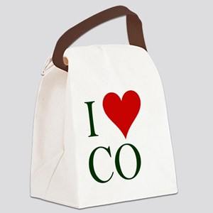 2-I-love-CO2 Canvas Lunch Bag