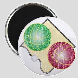 Distressed Bocce Logo Magnet
