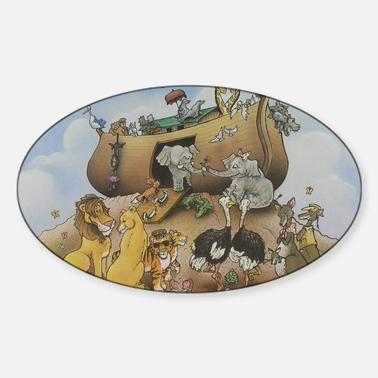 noahs ark 12x9 Sticker (Oval)