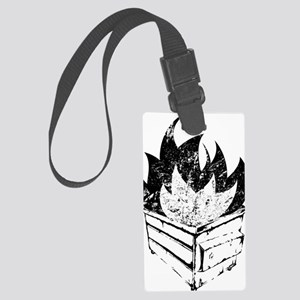 dumpster-fire Large Luggage Tag