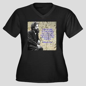 Morris Quota Women's Plus Size Dark V-Neck T-Shirt