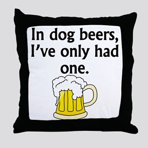 In Dog Beers Throw Pillow