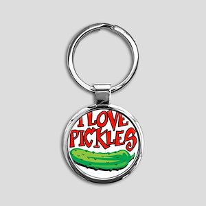 i-love-pickles Round Keychain
