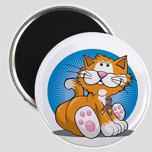 Autism-Cat-blk Magnet