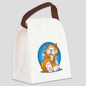 Autism-Cat-blk Canvas Lunch Bag