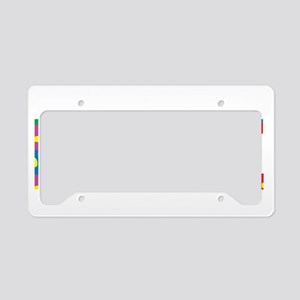 Autism-Think-PUZZLE-blk License Plate Holder