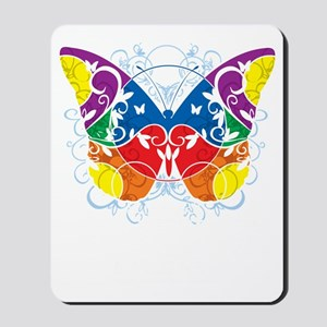 Autism-Butterfly-blk Mousepad