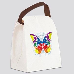 Autism-Butterfly-blk Canvas Lunch Bag