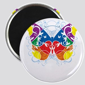 Autism-Butterfly-blk Magnet