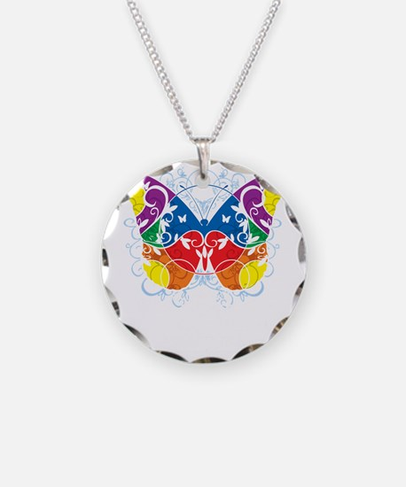 Autism-Butterfly-blk Necklace