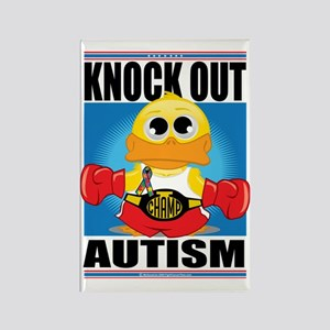 Knock-Out-Autism Rectangle Magnet