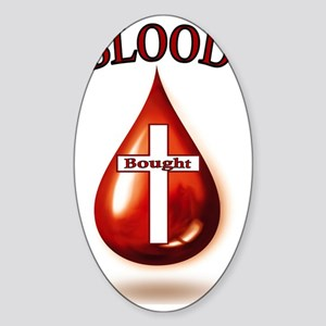 Blood Bought. Sticker (Oval)