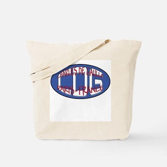 CDG-Paris-France Tote Bag