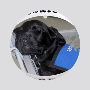 Training to be a Guide Dog Round Ornament