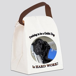 Training to be a Guide Dog Canvas Lunch Bag