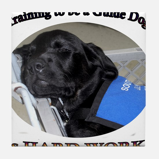 Training to be a Guide Dog Tile Coaster