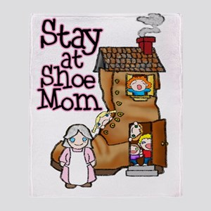 Old Woman and Shoe Throw Blanket