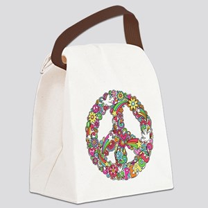Peace & Love Canvas Lunch Bag