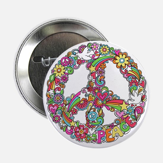"Peace & Love 2.25"" Button"