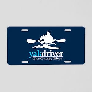 yakdriver -Gauley River Aluminum License Plate