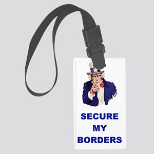 3-SECURE MY BORDERS Large Luggage Tag