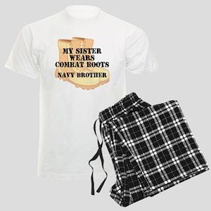 Navy Brother Sister Desert Combat Boots Pajamas