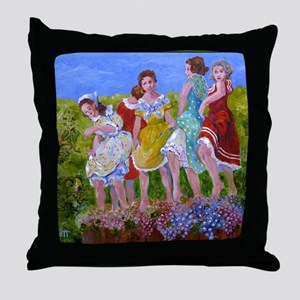 womestomp2 Throw Pillow