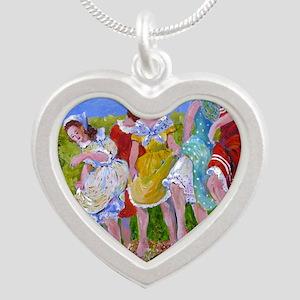 womestomp2 Silver Heart Necklace