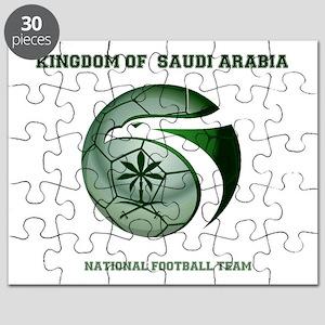 KSA KINGDOM OF SAUDI ARABIA FOOTBALL TEAM Puzzle