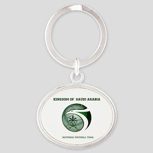 KSA KINGDOM OF SAUDI ARABIA FOOTBALL Oval Keychain