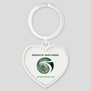 KSA KINGDOM OF SAUDI ARABIA FOOTBAL Heart Keychain
