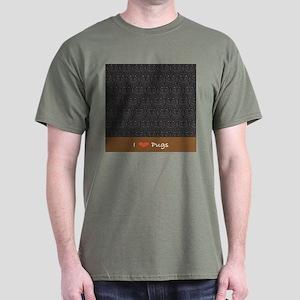 I Love Pugs Dark T-Shirt