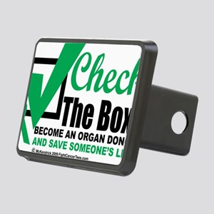Organ-Donor-Check-the-Box Rectangular Hitch Cover