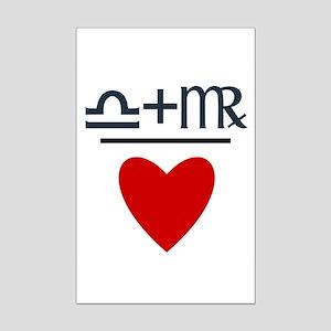 Libra + Virgo = Love Mini Poster Print