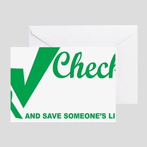 Organ-Donor-Check-the-Box-blk Greeting Card