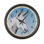 White Mule Large Wall Clock