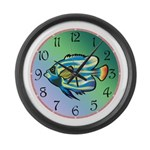 Tropical Fish Large Wall Clock