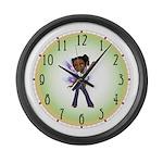 Jasmine Hip Hop Fairy Large Wall Clock
