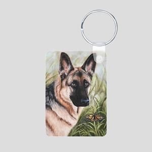 German Shepherd Dog Aluminum Photo Keychain