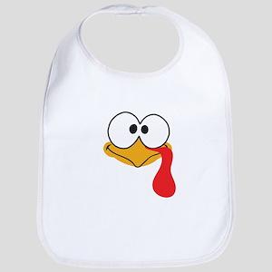 Happy Thanksgiving Baby Cute Turkey Bib
